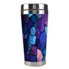 Cubes Vector Art Background Stainless Steel Travel Tumblers