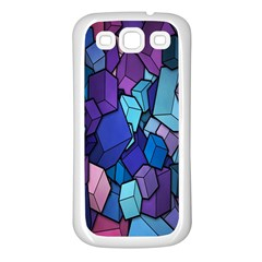 Cubes Vector Art Background Samsung Galaxy S3 Back Case (White)