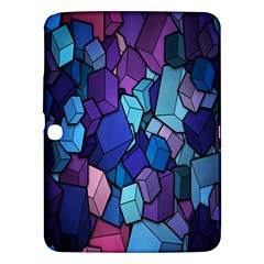 Cubes Vector Art Background Samsung Galaxy Tab 3 (10 1 ) P5200 Hardshell Case