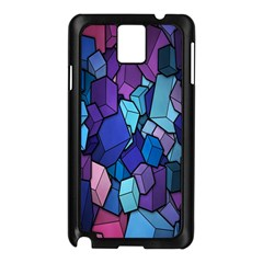 Cubes Vector Art Background Samsung Galaxy Note 3 N9005 Case (Black)