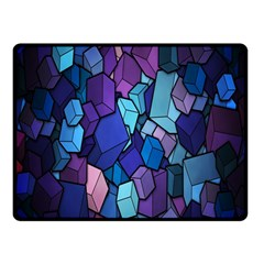 Cubes Vector Art Background Double Sided Fleece Blanket (Small)