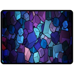 Cubes Vector Art Background Double Sided Fleece Blanket (Large)