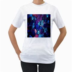 Cubes Vector Art Background Women s T-Shirt (White)