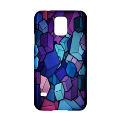Cubes Vector Art Background Samsung Galaxy S5 Hardshell Case