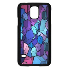 Cubes Vector Art Background Samsung Galaxy S5 Case (Black)