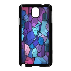 Cubes Vector Art Background Samsung Galaxy Note 3 Neo Hardshell Case (Black)