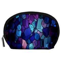Cubes Vector Art Background Accessory Pouches (Large)
