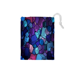 Cubes Vector Art Background Drawstring Pouches (small)