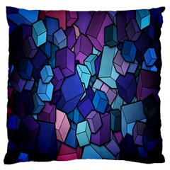 Cubes Vector Art Background Large Flano Cushion Case (Two Sides)