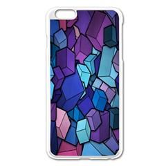 Cubes Vector Art Background Apple iPhone 6 Plus/6S Plus Enamel White Case