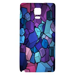 Cubes Vector Art Background Galaxy Note 4 Back Case