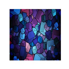 Cubes Vector Art Background Small Satin Scarf (Square)