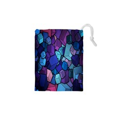 Cubes Vector Art Background Drawstring Pouches (xs)