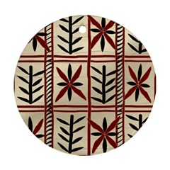Abstract A Colorful Modern Illustration Pattern Ornament (Round)