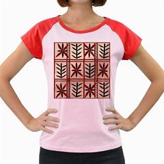 Abstract A Colorful Modern Illustration Pattern Women s Cap Sleeve T Shirt