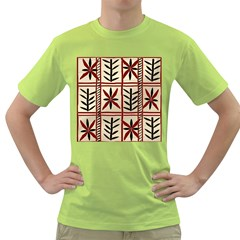Abstract A Colorful Modern Illustration Pattern Green T-Shirt