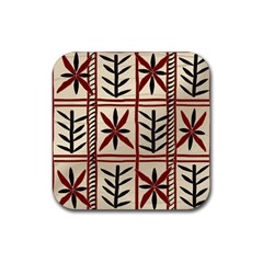 Abstract A Colorful Modern Illustration Pattern Rubber Coaster (square)
