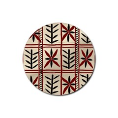 Abstract A Colorful Modern Illustration Pattern Rubber Coaster (Round)