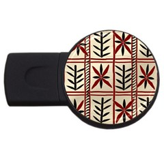 Abstract A Colorful Modern Illustration Pattern USB Flash Drive Round (2 GB)