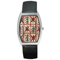 Abstract A Colorful Modern Illustration Pattern Barrel Style Metal Watch