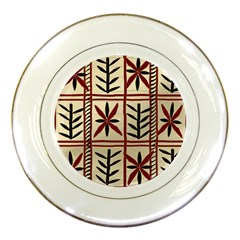 Abstract A Colorful Modern Illustration Pattern Porcelain Plates