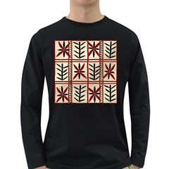 Abstract A Colorful Modern Illustration Pattern Long Sleeve Dark T Shirts
