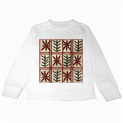 Abstract A Colorful Modern Illustration Pattern Kids Long Sleeve T-Shirts