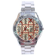 Abstract A Colorful Modern Illustration Pattern Stainless Steel Analogue Watch
