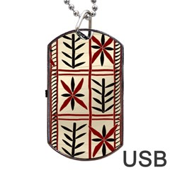 Abstract A Colorful Modern Illustration Pattern Dog Tag Usb Flash (one Side)