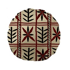 Abstract A Colorful Modern Illustration Pattern Standard 15  Premium Round Cushions