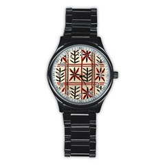 Abstract A Colorful Modern Illustration Pattern Stainless Steel Round Watch