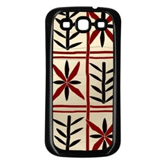 Abstract A Colorful Modern Illustration Pattern Samsung Galaxy S3 Back Case (Black)
