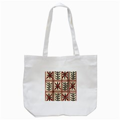 Abstract A Colorful Modern Illustration Pattern Tote Bag (White)