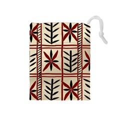Abstract A Colorful Modern Illustration Pattern Drawstring Pouches (Medium)