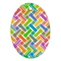 Abstract Pattern Colorful Wallpaper Background Ornament (oval)