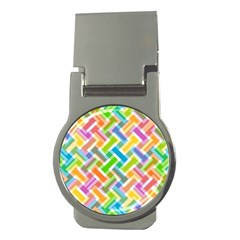 Abstract Pattern Colorful Wallpaper Background Money Clips (Round)