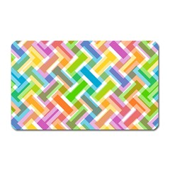Abstract Pattern Colorful Wallpaper Background Magnet (rectangular)