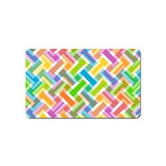 Abstract Pattern Colorful Wallpaper Background Magnet (Name Card)
