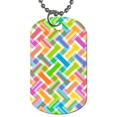 Abstract Pattern Colorful Wallpaper Background Dog Tag (two Sides)