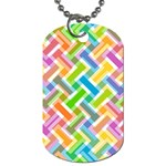 Abstract Pattern Colorful Wallpaper Background Dog Tag (Two Sides) Front