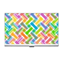 Abstract Pattern Colorful Wallpaper Background Business Card Holders
