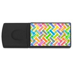 Abstract Pattern Colorful Wallpaper Background USB Flash Drive Rectangular (1 GB)