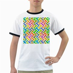 Abstract Pattern Colorful Wallpaper Background Ringer T-Shirts
