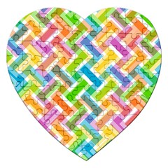 Abstract Pattern Colorful Wallpaper Background Jigsaw Puzzle (Heart)