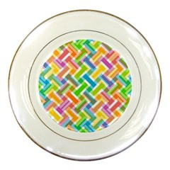 Abstract Pattern Colorful Wallpaper Background Porcelain Plates