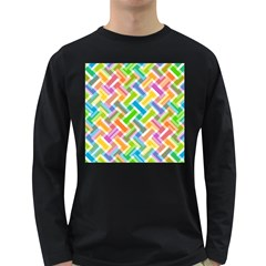 Abstract Pattern Colorful Wallpaper Background Long Sleeve Dark T Shirts