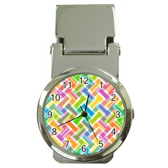 Abstract Pattern Colorful Wallpaper Background Money Clip Watches