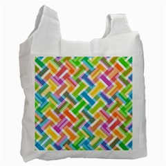 Abstract Pattern Colorful Wallpaper Background Recycle Bag (Two Side)