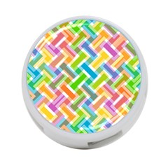 Abstract Pattern Colorful Wallpaper Background 4 Port Usb Hub (one Side)
