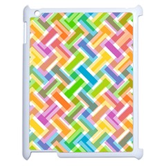 Abstract Pattern Colorful Wallpaper Background Apple iPad 2 Case (White)